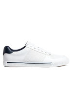 Perforated trainers - White - Men | H&M 1
